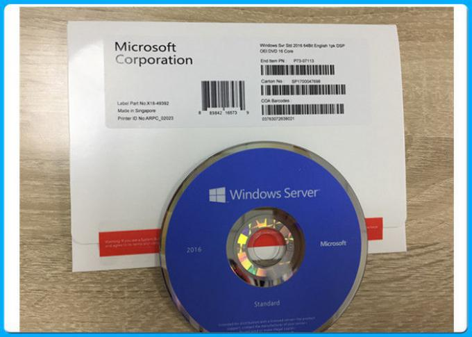 Microsoft Windows Server 2016 Standar 64bit FQC P73-07113 - OEM, Sealed Sever 2016 paket OEM standar 16 INTI